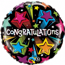 "Congratulations Shooting Stars Foil Balloon (18"") 1pc"